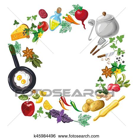 clip art of cooking class or menu flayer template k45984496 search rh fotosearch com eps scalable vector graphics eps file vector graphics