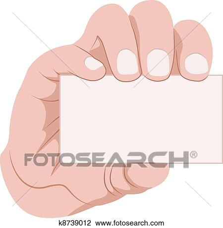 clipart of hand holding business card k8739012 search clip art rh fotosearch com free clipart icons for business cards Business Card Border Clip Art