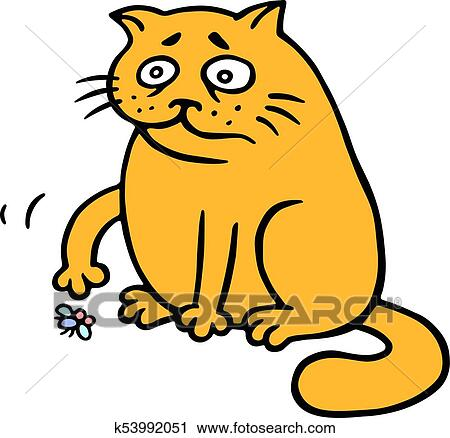clipart of orange fat cat is lonely k53992051 search clip art rh fotosearch com fat cat clipart fat grey cat clipart