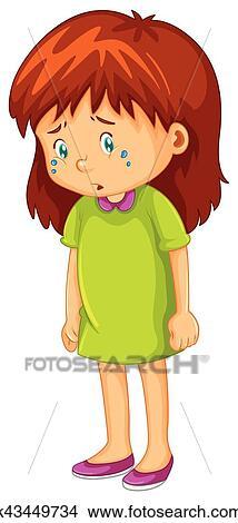 Dessin De Petite Fille Triste Facile Daintreeherbs