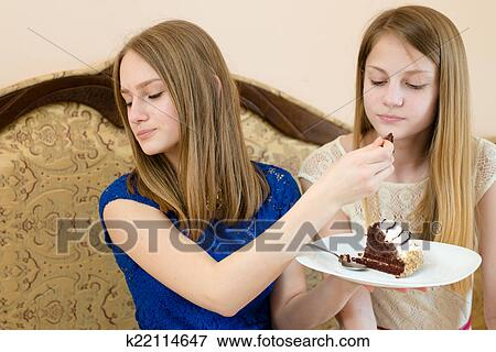 Picture Of Diet Creamy Chocolate Cake Close Up Portrait Of 2