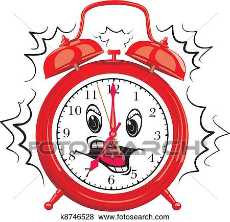 clip art of it s time to get up k8746528 search clipart rh fotosearch com clipart alarm clock alarm clock clipart black and white