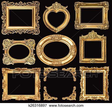 Golden Frames Baroque Style Antique