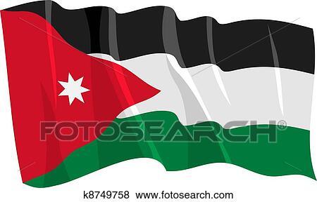 clip art of waving flag of jordan k8749758 search clipart