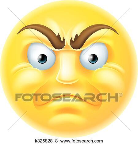 clip art of angry emoji emoticon cartoon k32582818 search clipart