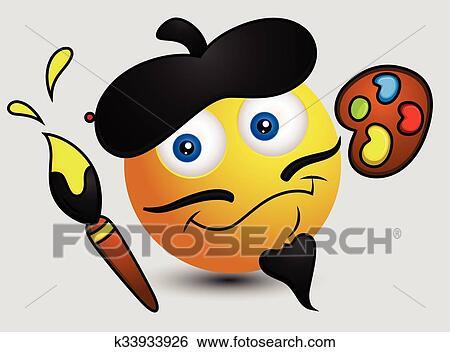 Cartone animato francese pittura artista clip art k