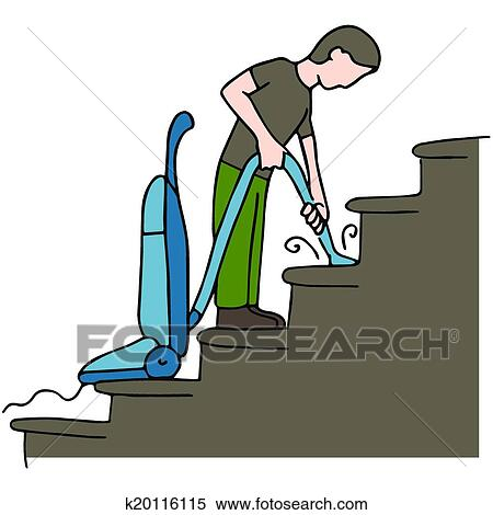 cleaning stairs clipart k20116115 fotosearch https www fotosearch com csp875 k20116115