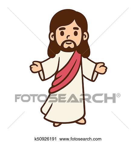 Dessin Anime Jesus Dessin Clipart K50926191 Fotosearch