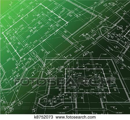 Clipart of house plan on green background vector blueprint k8752073 house plan vector blueprint background green illustration malvernweather Images