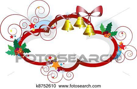 Clipart Rahmen Für Weihnachten Gifts K8752610 Suche Clip Art