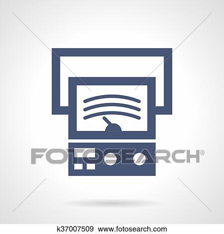 Clip Art - spannung, maß, glyph, stil, vektor, symbol k37007509 ...