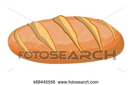 الرغيف بسبب حنطة Bread إنتزع الشعر عن الجلد Bread Roll Clip Art K68445556 Fotosearch