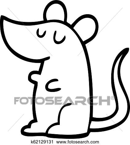 Black And White Cartoon Mouse Clipart K62129131 Fotosearch