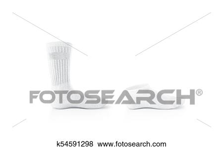 pictures of blank white socks design mockup isolated clipping path