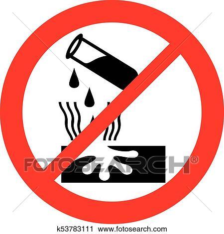 Danger Corrosive Warning Sign Clipart K53783111 Fotosearch
