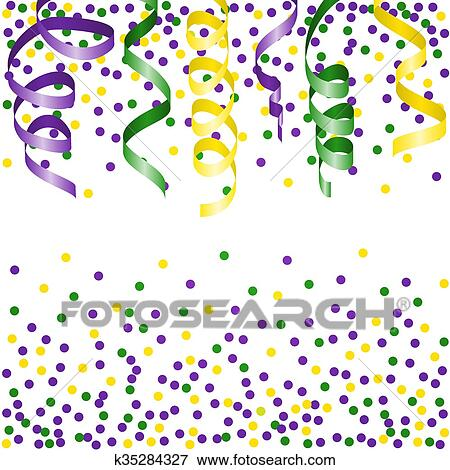 Clip Art Fasching Hintergrund Mit Luftschlange K35284327