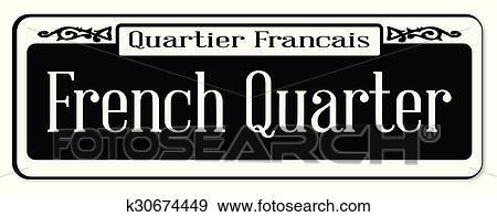 clip art of french quarter k30674449 search clipart illustration rh fotosearch com New Orleans Clip Art Louisiana Food Clip Art