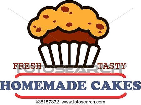 Boulangerie, maison, et, patisserie, magasin, vendange, signe, de,  chocolat, petit gâteau, à, raisins secs, supplemented, par, bannière, à,  texte,