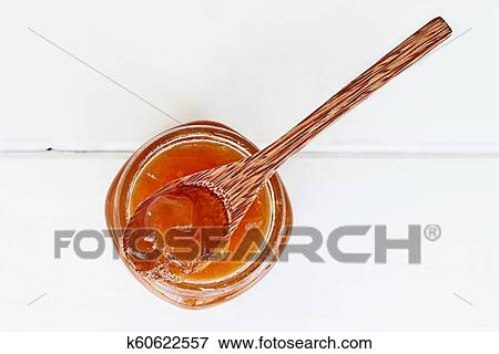 Overhead View Of Cantaloupe Jam Stock Photo K60622557 Fotosearch I truly enjoy creating a number of batches of different types of jams each year during our stay in umbria. fotosearch