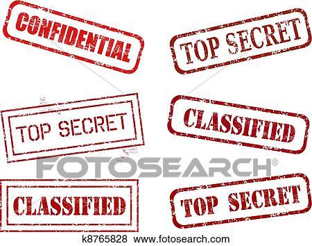 Clip Art Of Top Secret Stamps K8765828