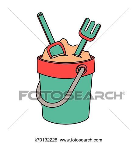 جردل الرمل ب الأدوات بأن يلعب Clip Art K70132228 Fotosearch