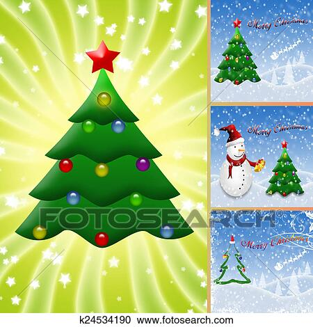 Collage Illustration Of Christmas Clipart K24534190 Fotosearch