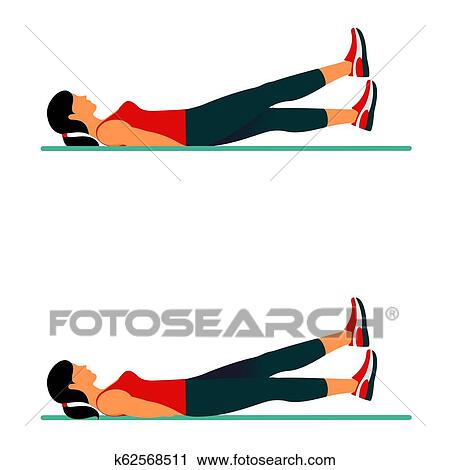 Fitness Exercises For Strong And Beautiful Body Clipart K62568511 Fotosearch