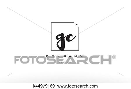 Clip Art Of Gc G C Hand Writing Letter Company Logo Icon Design