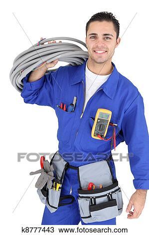 Colecci n de foto guapo electricista k8777443 buscar for Trabajo de electricista en malaga