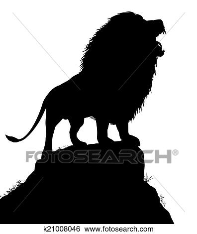 clip art of lion roar k21008046 search clipart illustration rh fotosearch com