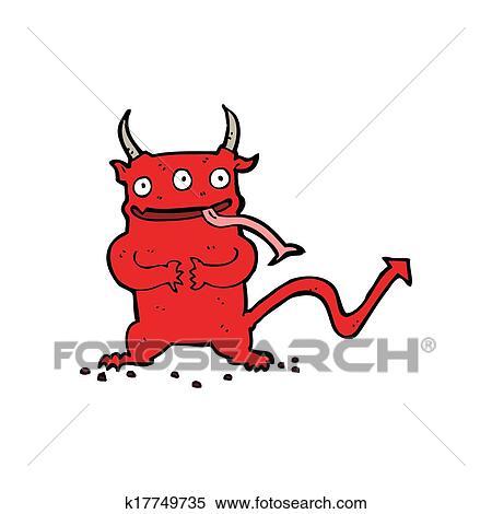 Archivio Illustrazioni Cartone Animato Poco Demone K17749735