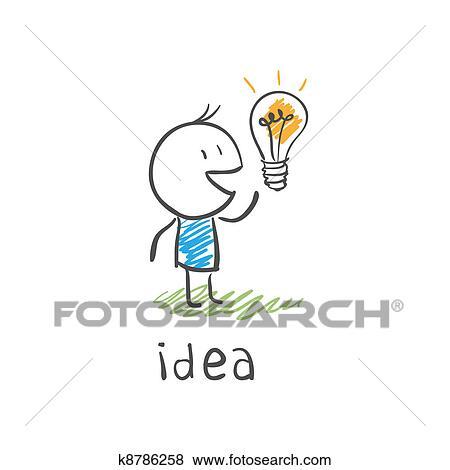 Ampoule Dessin banque d'illustrations - concept, ampoule, dessin k8786258