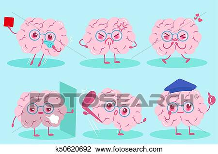 cute cartoon brain clipart k50620692 fotosearch https www fotosearch com csp878 k50620692