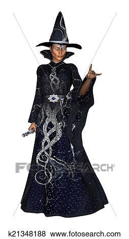 stock illustration of female wizard k21348188 search eps clip art