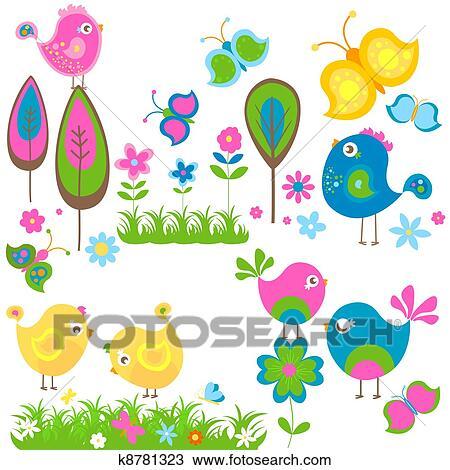 Clipart Frühling K8781323 Suche Clip Art Illustration