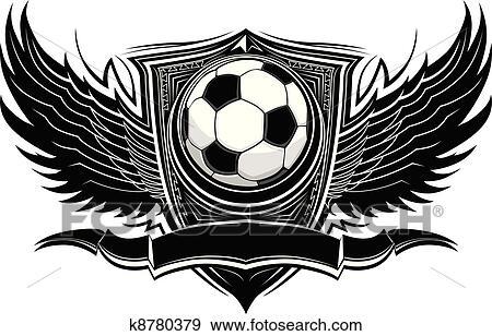 Fussball Ball Aufwendig Grafik Vektor Clip Art K8780379