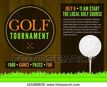 clip art of golf tournament flyer illustration k25368639 search