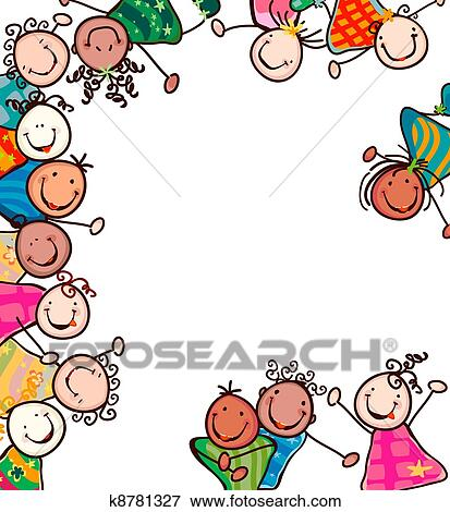 Kids smiling Clip Art | k8781327 | Fotosearch