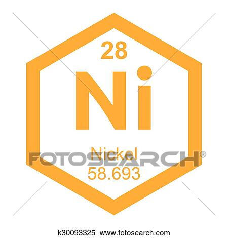 Clipart Of Periodic Table Nickel Element K30093325 Search Clip Art