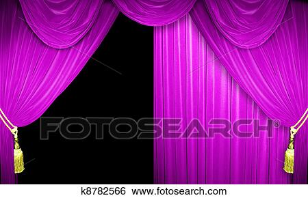 Stock Images Of Pink Velvet Curtains K8782566 Search Stock