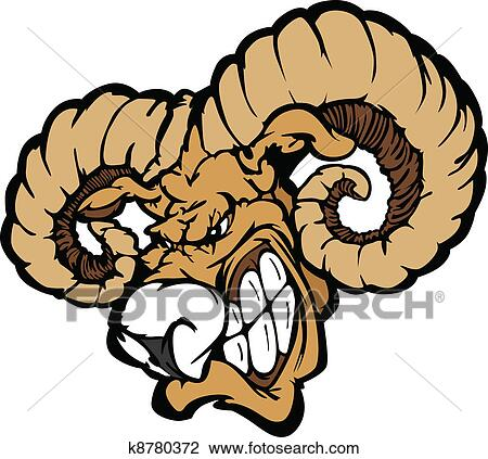 clipart of ram mascot cartoon illustration k8780372 search clip rh fotosearch com ram clipart stencil ram clipart images