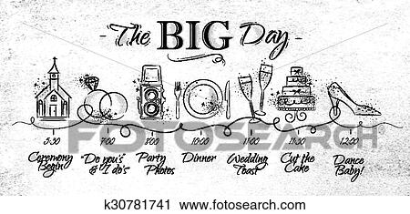 Clipart Of Wedding Timeline Menu K30781741 Search Clip Art