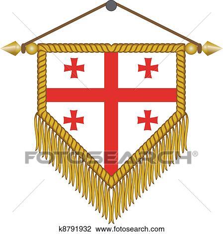 ベクトル 優勝旗 で 旗 の ジョージア クリップアート