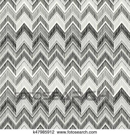 Abstract geometric seamless pattern  Fabric doodle zig zag line ornament   Zigzag pencil drawing background Clipart