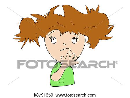 Stock Illustration Of Bad Hair Day K8791359 Search Vector Clipart