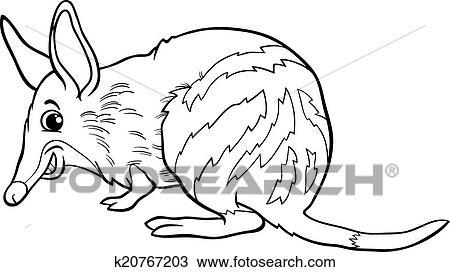 Clipart of bandicoot animal cartoon coloring book k20767203 - Search ...