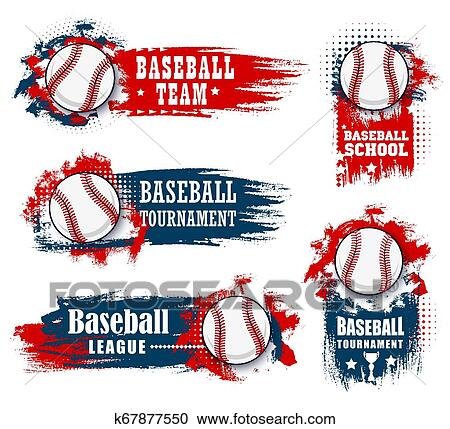 Basenall Sport Team Halftone Banners And Flags Clipart K67877550 Fotosearch