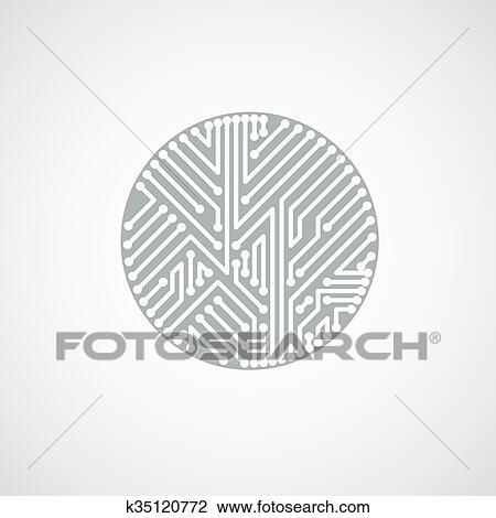 clipart of futuristic cybernetic scheme vector motherboard black