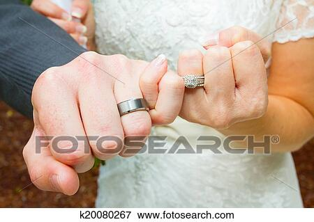 Picture Of Pinky Swear Wedding Ring Hands K20080267 Search Stock
