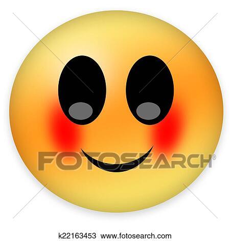 Kresba Podozrivy Emoticon S Cervenat Sa Prostrednictvom